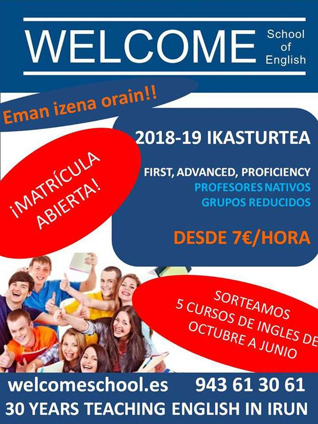 Welcome School of English-IRUN