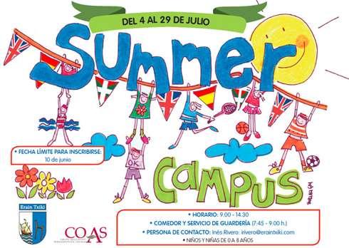 El Summer Campus de Erain Txiki : desde 0 hasta 8 años.