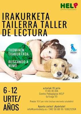 Nuevo taller de lectura con Lukas, en el centro pedagógico Help