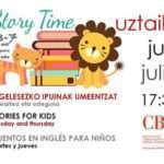 Cuentacuentos infantiles en inglés en el CBA de Irun