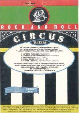 "irun_TALLER ""ROCK AND ROLL CIRCUS"""