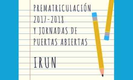 Prematrículas y jornadas de puertas abiertas para los centros de educación infantil y primaria de Irun