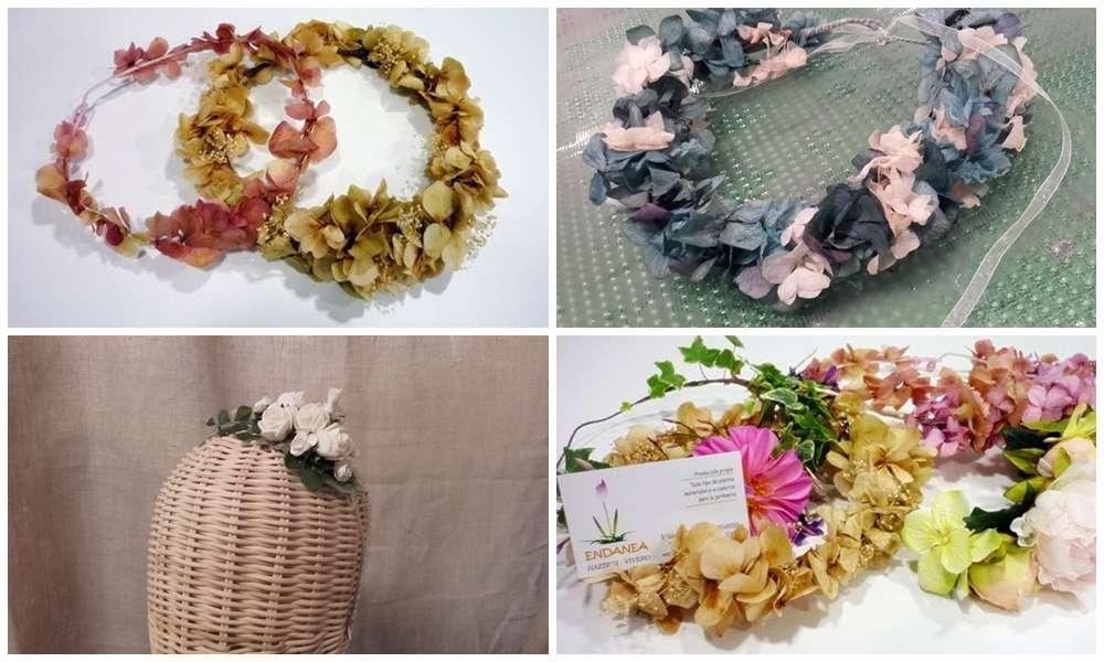 Coronas y tocados para ceremonias ( primera comunión y bodas ) en Endanea