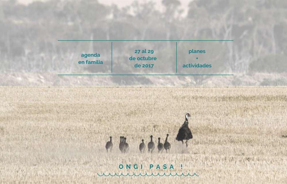 Agenda para el fin de semana del 27 al 29 de octubre