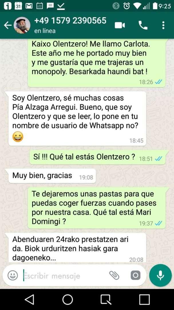 Olentzero_whatsapp_hablar_aplicación