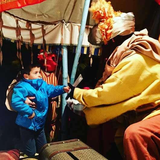 Cartero de los Reyes Magos en Hondarribia-Postaria-Hondarribia