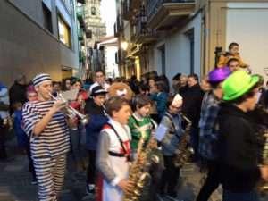 hondarribia-musika eta dantza eskola-correcalles-Carnaval 2018 Hondarribia