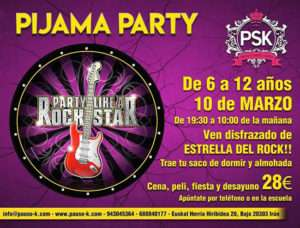 pijama-party-estrella de rock-pauso-k dance-IRUN