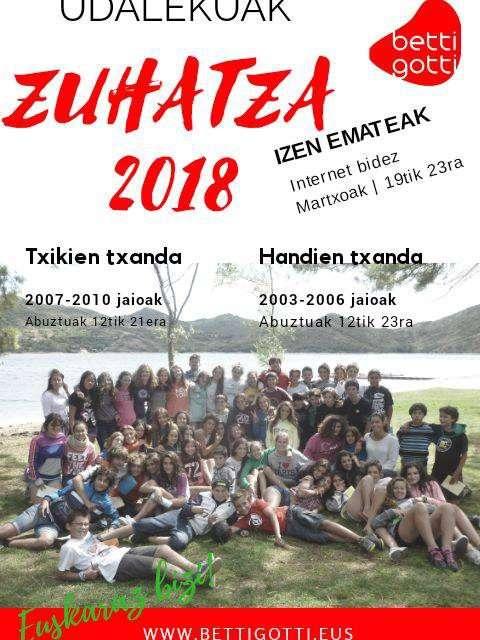Se abre el plazo de inscripción para los campamentos de verano de Betti Gotti 2018