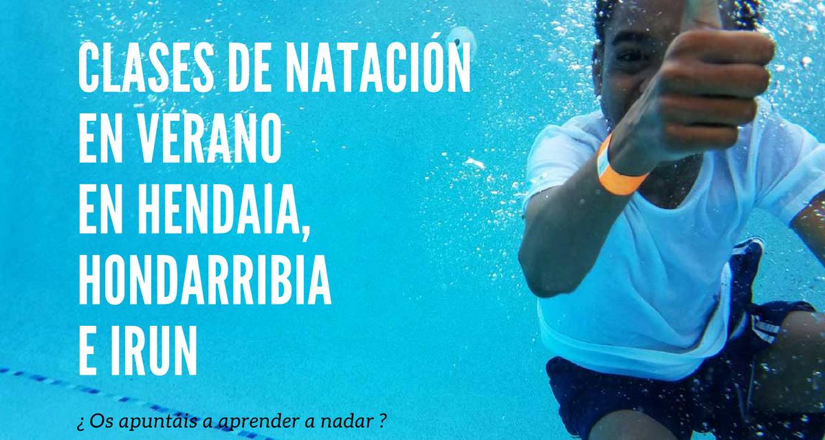 Clases de natación para niños en Hendaia, Hondarribia e Irun