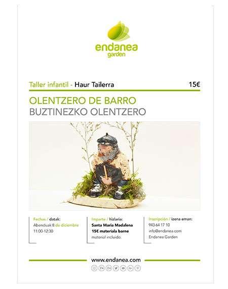 TALLER PARA REALIZAR OLENTZERO DE BARRO-ENDANEA GARDEN -HONDARRIBIA