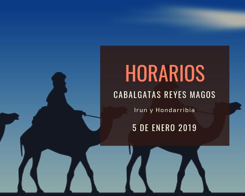 HORARIO Y RECORRIDOS DE LA CABALGATA DE LOS REYES MAGOS EL SÁBADO