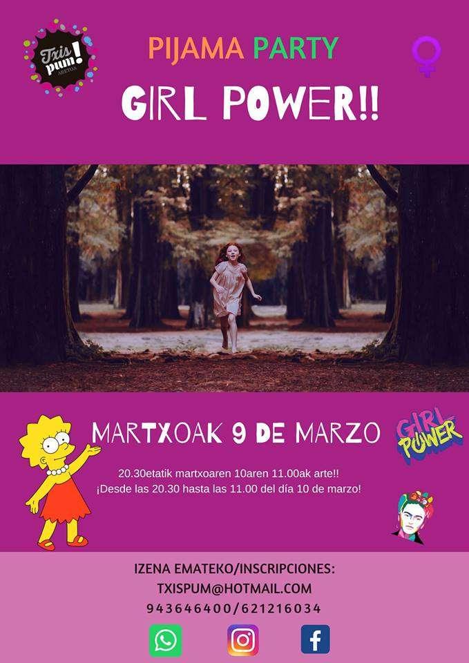 pijama party-girl power-txispum-Hondarribia