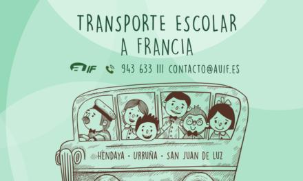 Transporte escolar a Francia para el curso 2019-2020