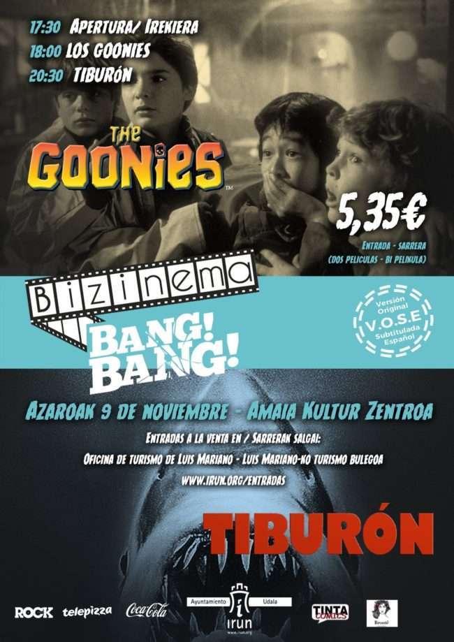 BIZINEMA BANG BANG «LOS GOONIES» Y «TIBURÓN»-Irun