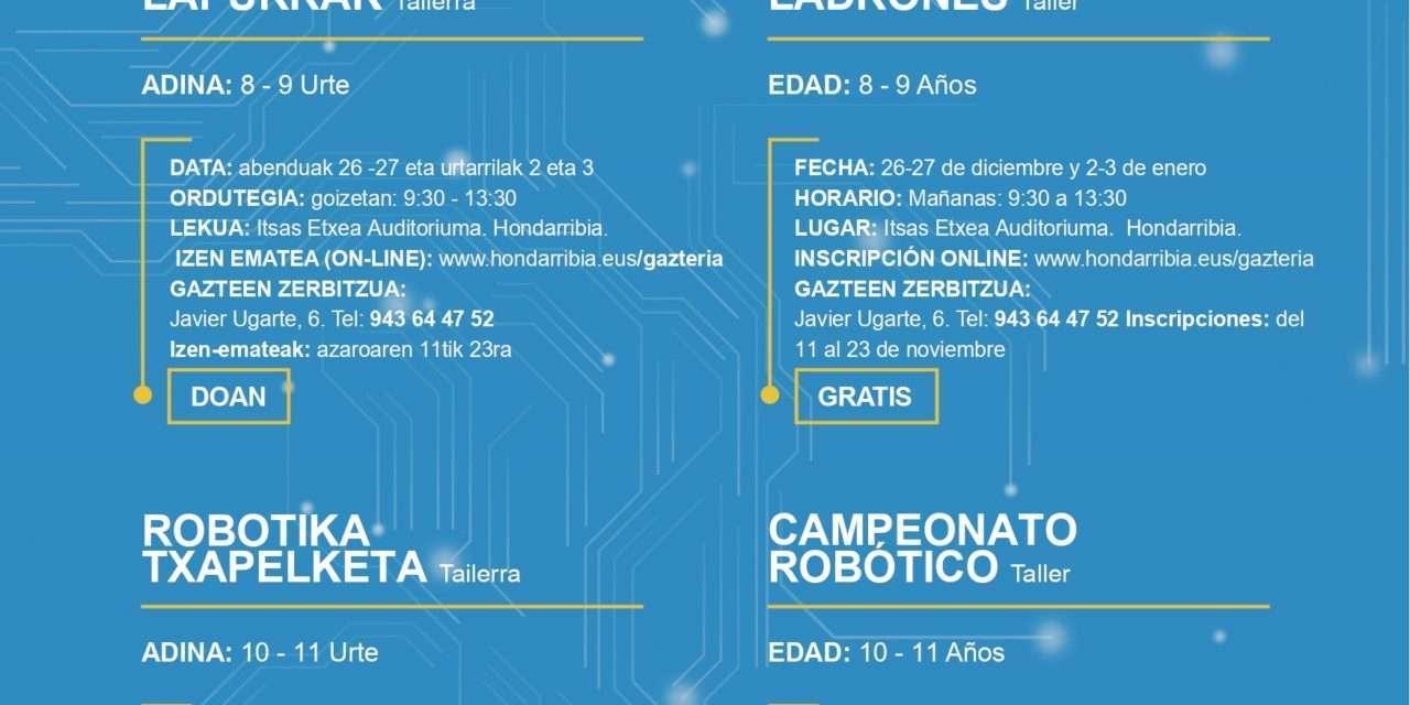 Sexta edición de los talleres GazteTEK de Navidad en Hondarribia