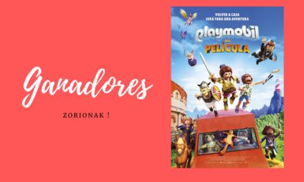 Ganadores de entradas para Playmobil la película, en Hondarribia