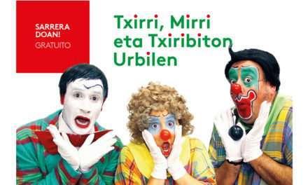 Txiri, Mirri eta Txiribiton estarán este sábado 29 de febrero en Urbil