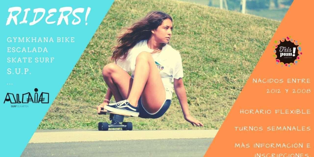 txispum riders: deportes de deslizamiento y bici